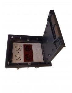 Caja de suelo kit 4 schukos y 2 RJ45