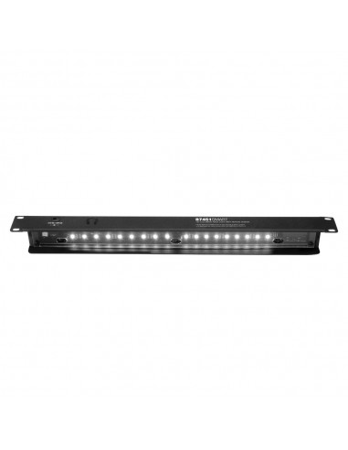Panel rack iluminación profesional 1U Blanco