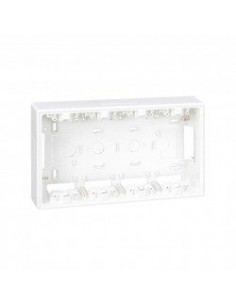 Base caja de pared de superficie para 4 elementos dobles blanco Simon 500 Cima