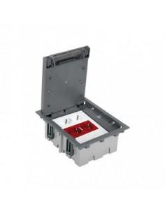 Kit caja de suelo regulable para suelo técnico 6 elementos gris Simon 500 Cima