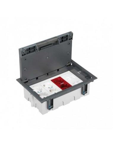 Kit caja de suelo regulable para suelo técnico 8 elementos gris Simon 500 Cima