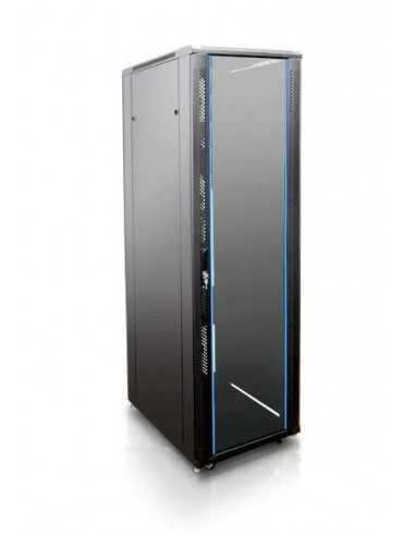 """Rack 19"""" 42U 600X600 Pta cristal. SIN accesorios"""