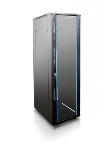 "Rack 19"" 32U 600x800 mm. Sin accesorios. Puerta de cristal"