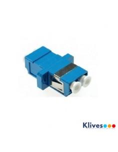 Adaptador fibra óptica duplex Monomodo SC/UPC Azul ECONOMICO
