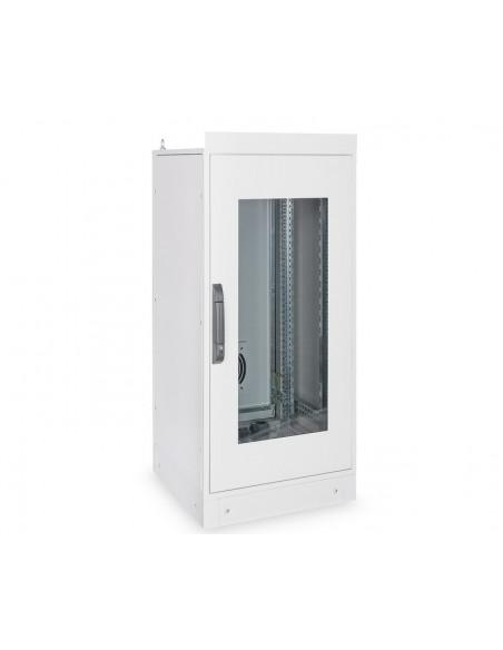 """Rack 19"""" industrial, interior, IP55 con puerta de cristal. 24u"""