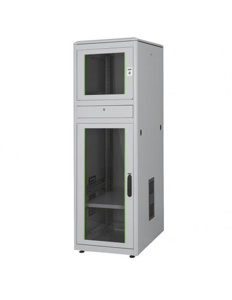 Armario rack para PC industrial con puertas de cristal ip40