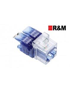 Conector RJ45 Hembra CAT6 , color Azul R&M