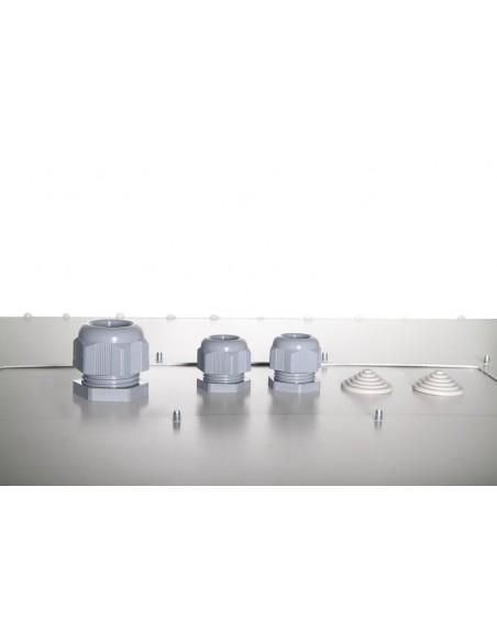 7U wall mounting cabinet, outdoor, IP55 490x600x450 mm, color grey (RAL 7035) ENTRADA DE CABLES INFERIOR