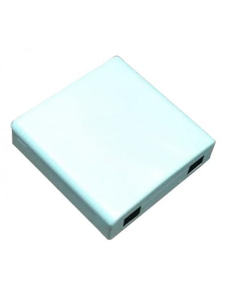 PAU fibra óptica con 2 salidas SC simplex o 4 salidas LC duplex.