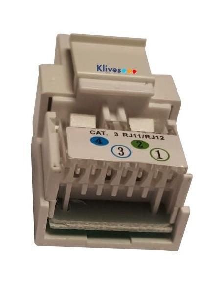 Conector RJ11 keystone CAT3 formato RJ45