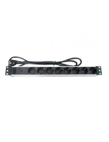 Regleta Rack 8 tomas con indicador LED Aluminio