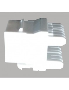 Conector RJ45 Hembra CAT6A 180º, Color Blanco
