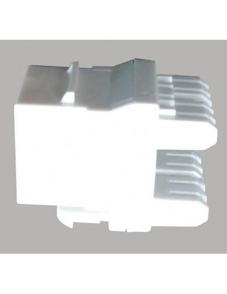 Conector RJ45 Hembra CAT6A 180º, Color Blanco