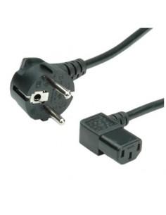 Cable Alimentación 3mts Schuko-IEC C13 Acodado