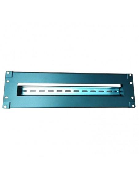 "Panel 19"" 3U abierto con carril DIN para 22 magnetotermicos unipolares."