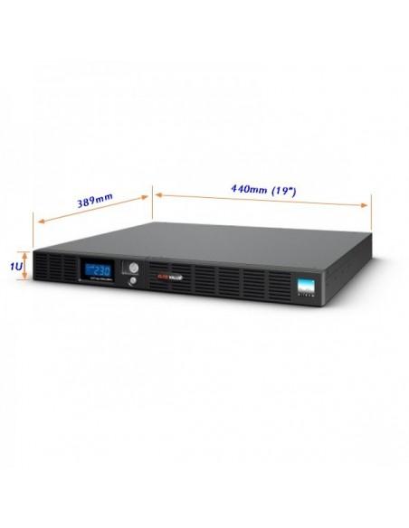 """SAI 1000VA/600W Line Interactive RACK 19"""" 1U"""